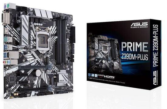 Asus osnovna plošča PRIME Z390M-PLUS, DDR4, USB 3.1 Gen 2, LGA1151, mATX