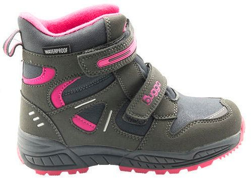 Bugga dívčí zimní boty 34 šedá/fialová