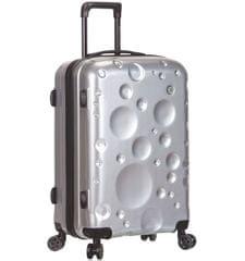 Sirocco Cestovní kufr T-1194/3-M PC - stříbrná