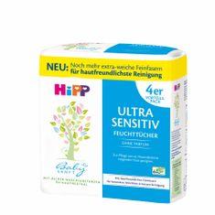 HiPP Babysanft Čistící vlhčené ubrousky ULTRA SENSITIVE bez parfému 4x52 ks