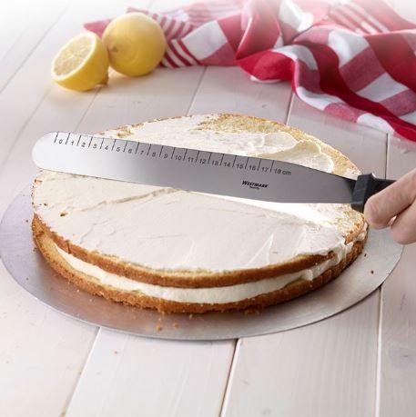 Westmark Stěrka/nůž na dort rovný, nerezový