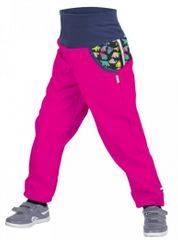 Unuo Dívčí softshellové kalhoty s fleecem Souhvězdí medvěda Fuchsia - růžové