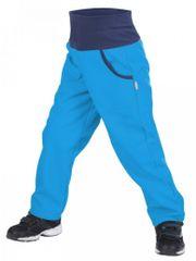 Unuo Chlapecké softshellové kalhoty s fleecem Tyrkysové - modré