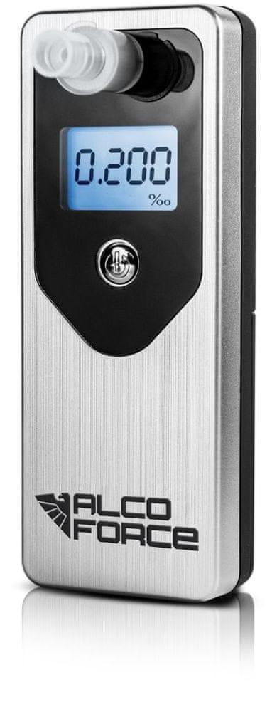 AlcoForce Osobní alkoholtestr MASTER, stříbrný, ekonomický model, kalibrace na 1 rok zdarma