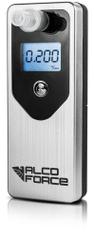 AlcoForce Osobný alkoholtester MASTER, strieborný, ekonomický model, kalibrácia na 1 rok zadarmo