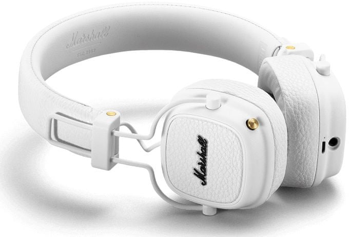 MARSHALL Major III Bluetooth bezdrátová sluchátka, bílá
