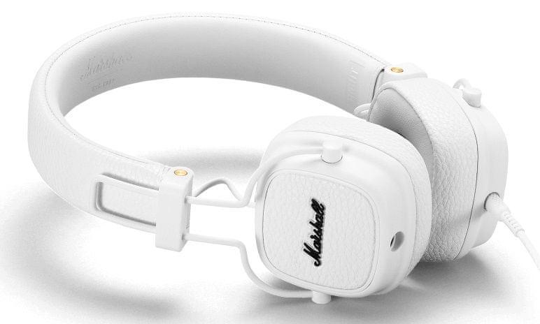 MARSHALL Major III sluchátka s mikrofonem, bílá