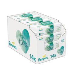 Pampers 14x Aqua Pure vlhčené ubrousky - 48 ks