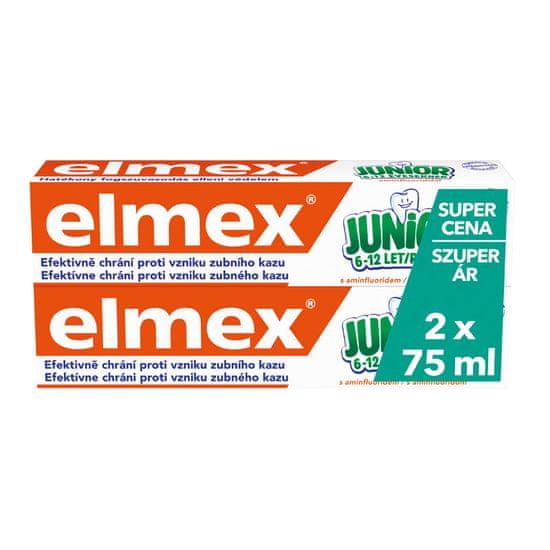 Elmex Junior zobna pasta (5-12 let), 2 x 75ml