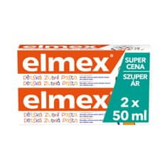 Elmex zobna pasta Junior (0-5 let), 2 kosa