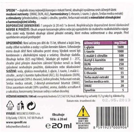 Wellness Food Speed 8 10x 20ml.