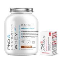 PhD Nutrition Pharma Whey HT+ 2250g + Omega 3 90 kapslí ZDARMA
