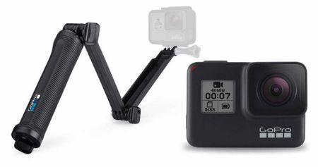 GoPro športna kamera HERO7 Black + nosilec 3 Way