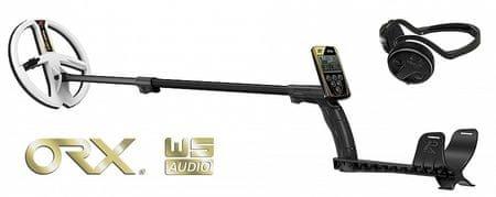 XP Metal Detectors XP ORX HF 22 cm RC + bezdrátová sluchátka WSAUDIO