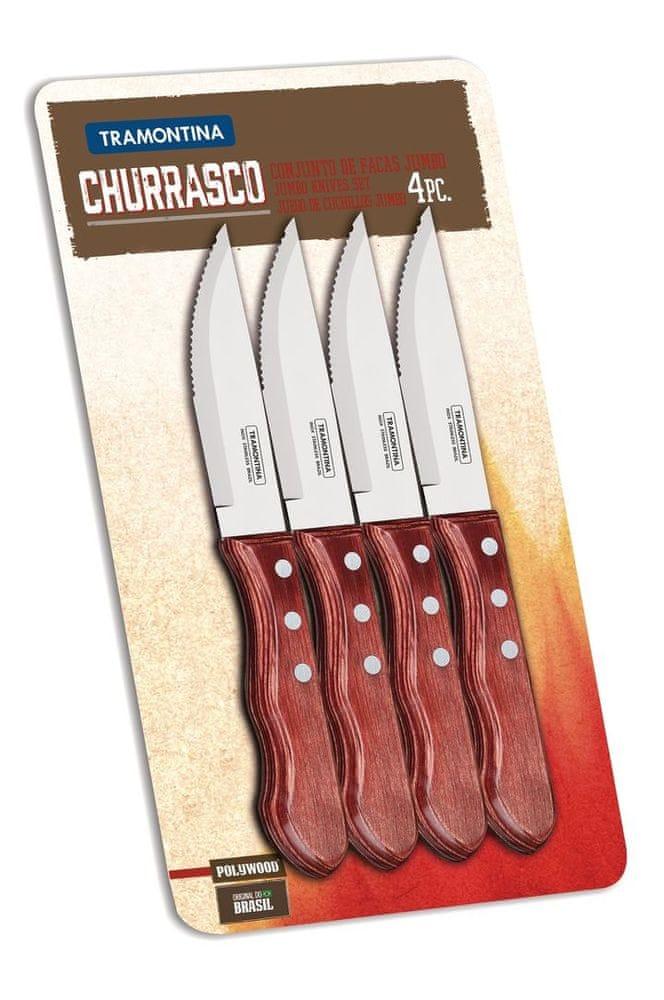 Tramontina CHURRASCO nůž Jumbo 4 ks 12 cm červené dřevo