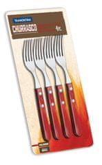 Tramontina CHURRASCO vidlička Jumbo 4 ks červené dřevo