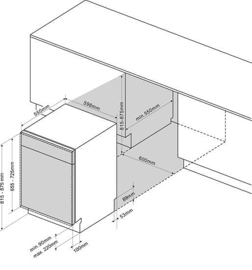 LORD D1 vgradni pomivalni stroj