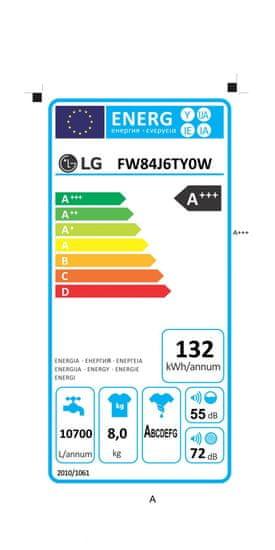 LG pračka FW84J6TY0 + 10 let záruka na motor