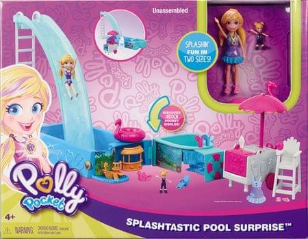Mattel Polly Pocket - bazen s toboganom