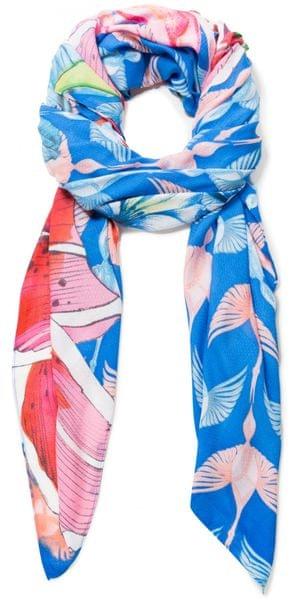 Desigual dámský modrý šátek Foul Birdy ddce345fa3