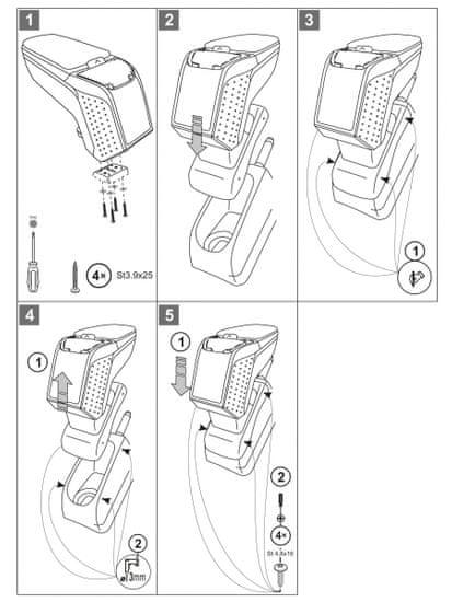 Rati Loketní opěrka Citroen DS3 2010- (metal-grey)