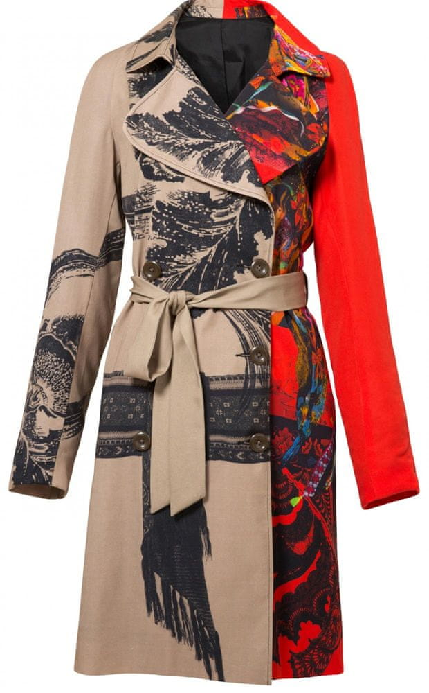 Desigual dámský kabát Abrig Marzo 36 béžová