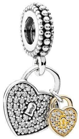 Pandora Luxusní přívěsek Odemčená srdce 791807CZ stříbro 925/1000