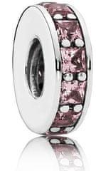 Pandora Elválasztó gyöngy lila kristályokkal 791724NBP ezüst 925/1000