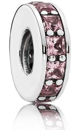 Pandora Oddělující korálek s fialovými krystaly 791724NBP stříbro 925/1000