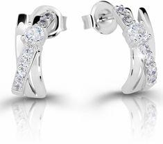 Modesi Překrásné náušnice pro ženy M21099 stříbro 925/1000