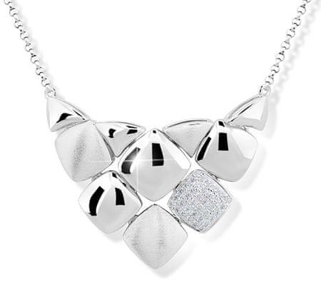 Modesi Dizajnový náhrdelník zo striebra M43047 striebro 925/1000