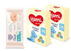Hami 24+ 2x600g + wipes Onclé