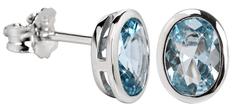Silver Cat Něžné náušnice s modrým krystalem SC263 stříbro 925/1000