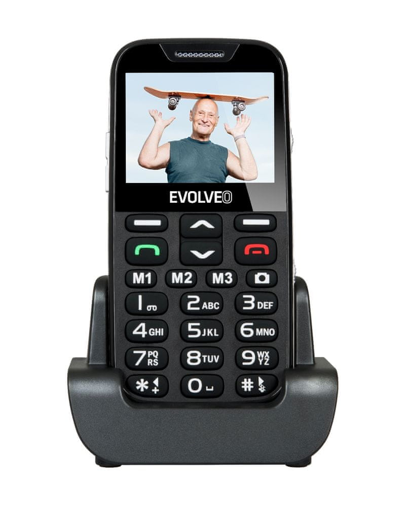 Evolveo EasyPhone XD, černá, nabíjecí stojánek