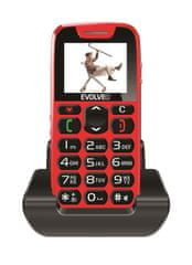 Evolveo EasyPhone EP-500 Mobiltelefon, Piros
