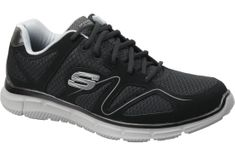 Skechers Satisfaction 58350-BKGY 46 Czarne