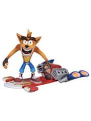 Figurka Crash Bandicoot - Hoverboard Crash (NECA. 14 cm)