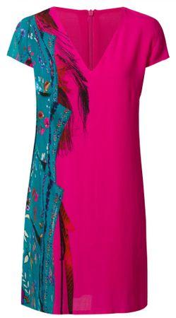 Desigual dámské šaty Vest Waling 36 růžová  3106a3431f1