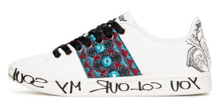 Desigual dámské tenisky Shoes Cosmic Exotic Tro 36 bílá