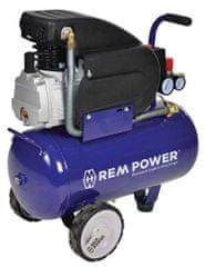 REM POWER Batni kompresor 24 L + 5 delni pnevmatski set S