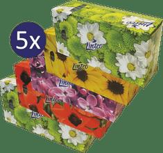 LINTEO Satin papirnati robčki v škatli, 5 x 150 kosov
