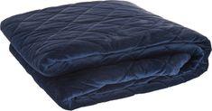 Koopman Přehoz přes postel Velvet 220 x 200 cm modrý