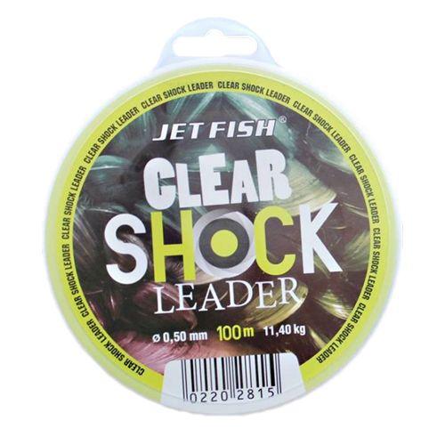 Jet Fish Clear Shock Leader Crystal 100 m 0,50 mm, 11,4 kg