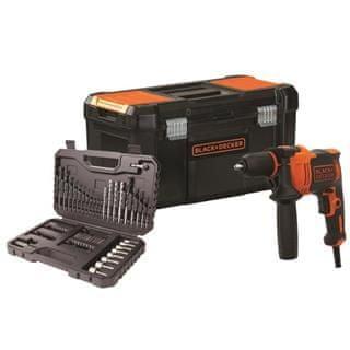 Black+Decker Udarni vrtalnik 710W v kovčku BEH710KA80