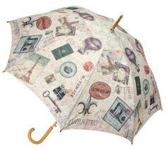 Blooming Brollies Dámský holový vystřelovací deštník Coynes Travel Folding COFTR1