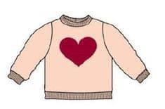Carodel dívčí svetr se srdcem