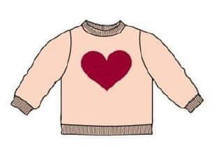 Carodel sweter dziewczęcy z sercem 62 biały