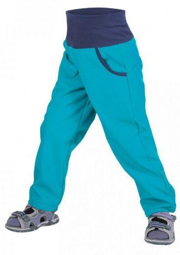 Unuo Chlapecké softshellové kalhoty bez zateplení Aqua 122-128 modrá