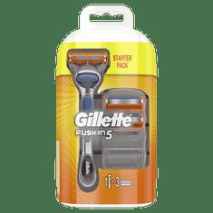 Gillette moška britvica Fusion + 3 rezervne glave za britje