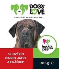 Dogs&Cats love Dogs Love konzerva hovězí s játry a zeleninou 415g